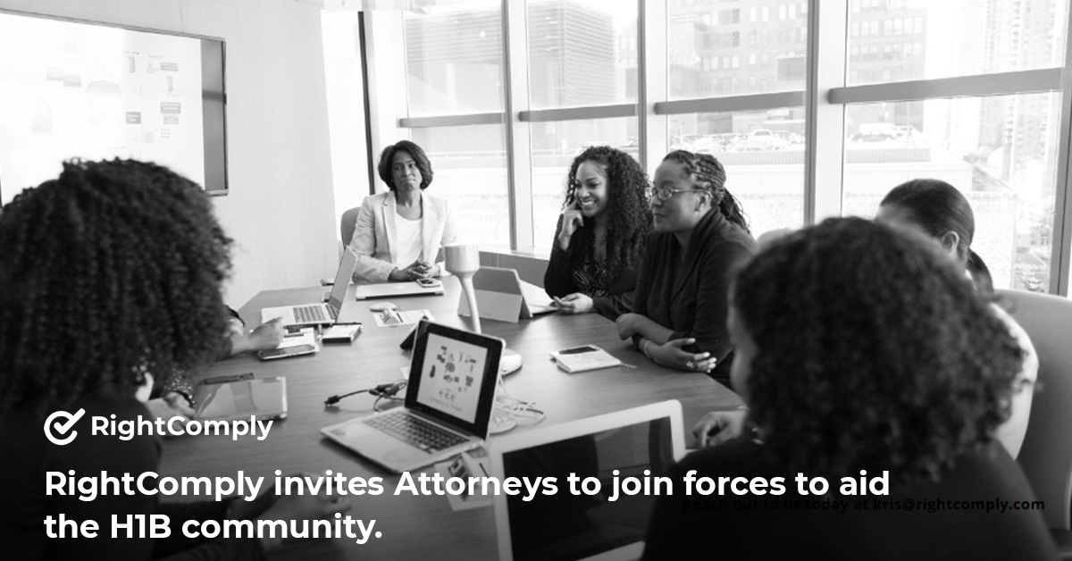 RightComply invites Attorneys to join forces to aid the H1B community