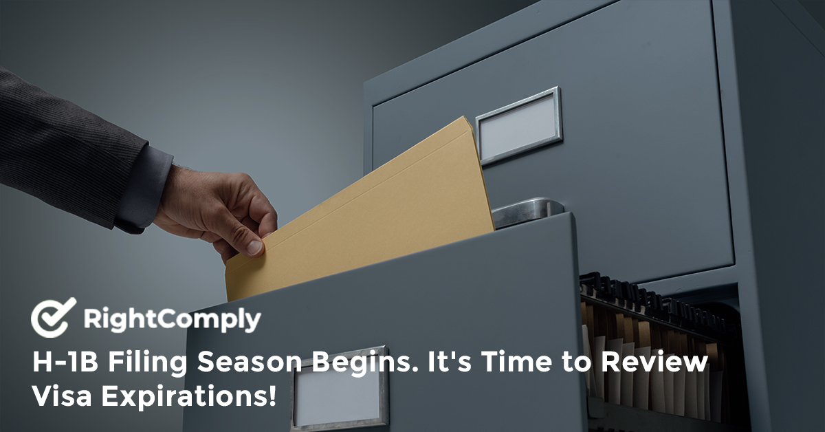 H-1B Filing Season Begins. It's Time to Review Visa Expirations!