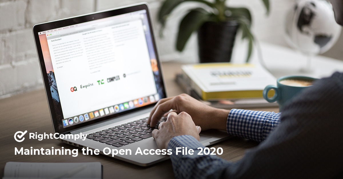 Maintaining the Open Access File 2020
